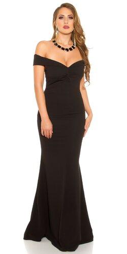 Úzke večerné šaty | Čierna
