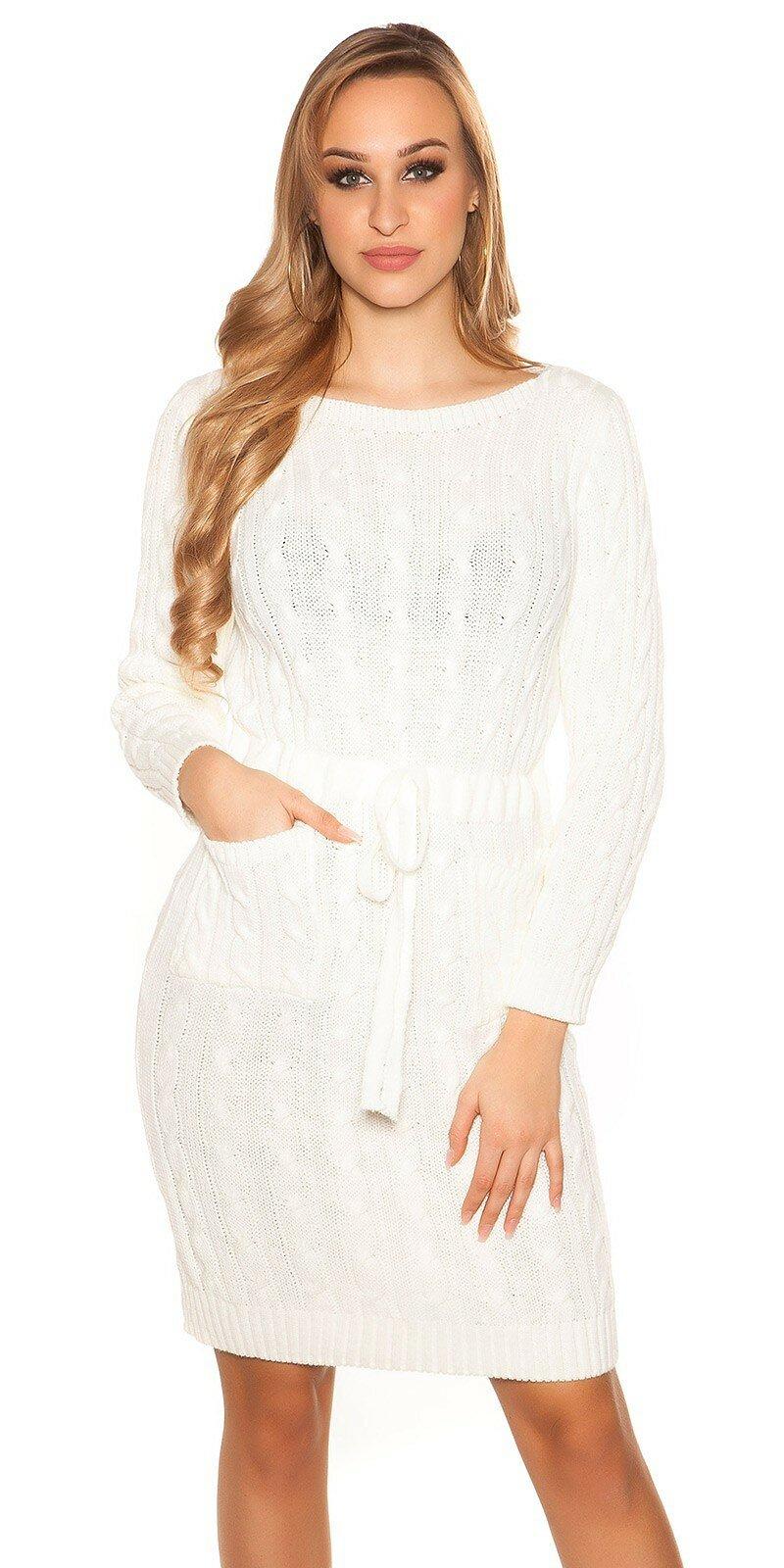 714501a5163e Hrubé pletené šaty s vreckami - NajlepsiaModa.sk