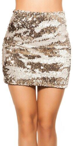 Flitrovaná sukňa | Biela