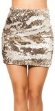 Flitrovaná sukňa Biela