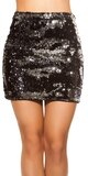 Flitrovaná sukňa Strieborná