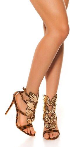 Krídlové sandále | Leopard