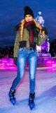 Úzke džínsy s mierne zvýšeným pásom Modrá