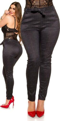 Moletkovské nohavice s podšívkou | Antracitová