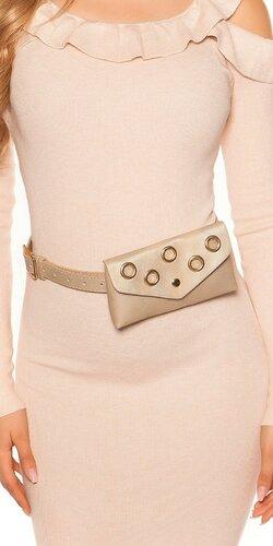 Opasková kabelka s očkami | Zlatá