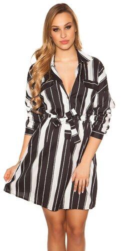 Blúzkové šaty | Čierno-biela