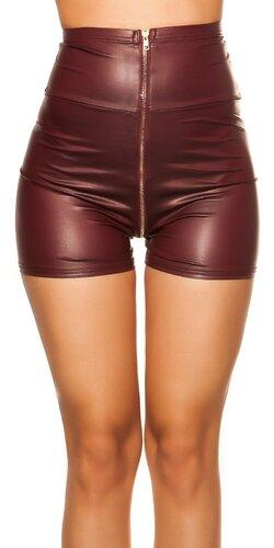 Wetlook šortky s vysokým pásom