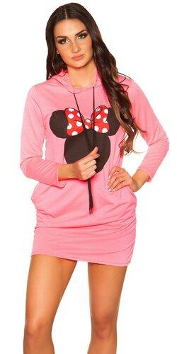 Svetrové šaty M. Mouse | Bledá ružová