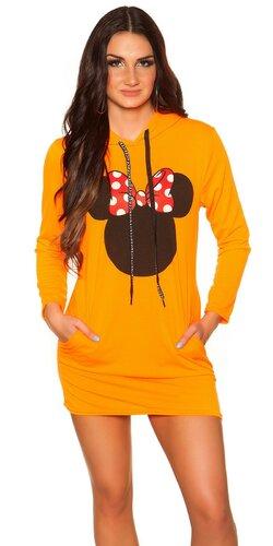 Svetrové šaty M. Mouse | Oranžová