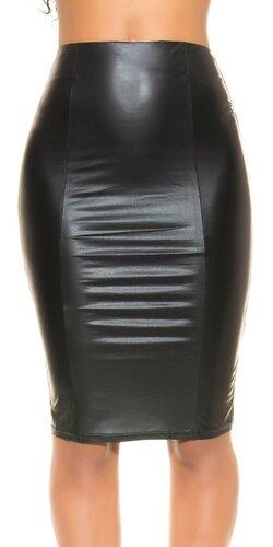 Dámska značková sukňa ,,Wetlook,, | Čierna