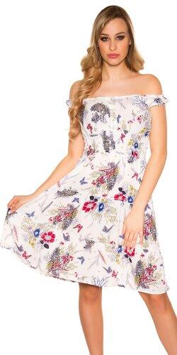 Letné šaty na ramienkach