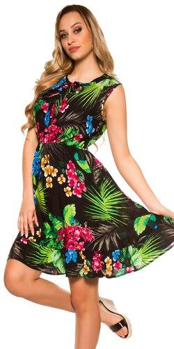 Dámske letné šaty Tropical | Čierna