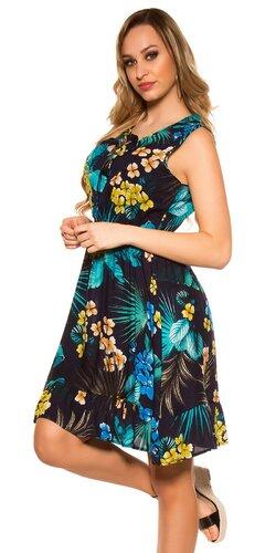 Dámske letné šaty Tropical | Tmavomodrá