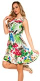 Dámske letné šaty Tropical Biela