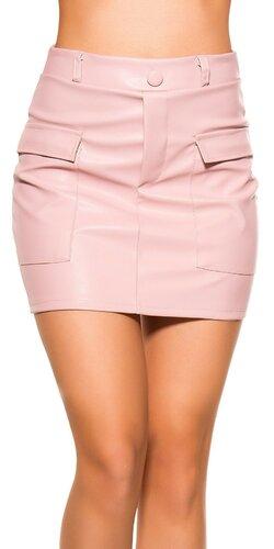 649e32741052 Kožená sukňa s vreckami
