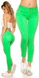 Farebné dámske nohavice Zelená