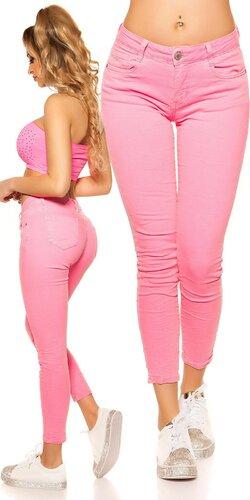 Farebné dámske nohavice   Ružová