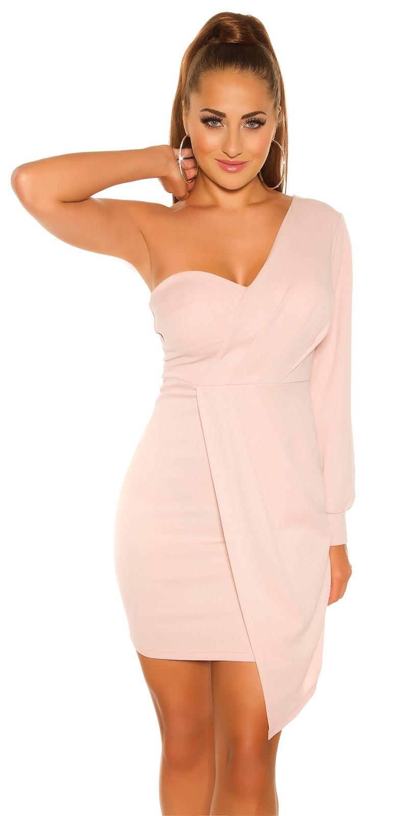 84abfa832c91 Mini šaty s jedným dlhým rukávom - NajlepsiaModa.sk
