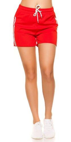 Dámske šortky z 90tich rokov | Červená