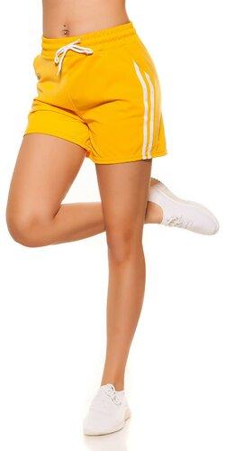 Dámske šortky z 90tich rokov | Žltá