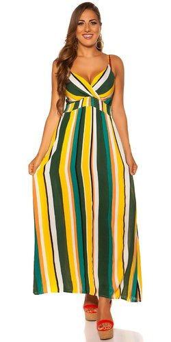 Pruhované letné maxi šaty