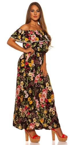 Letné kvetinové maxi šaty