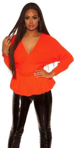 Peplum sveter | Oranžová