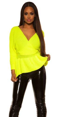 Peplum sveter | Žltá