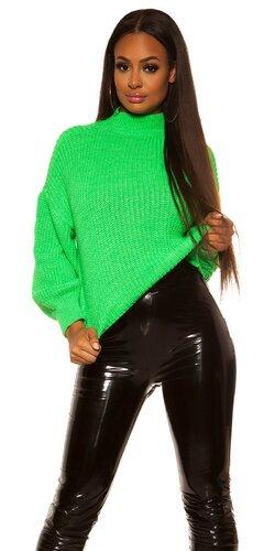 Oversize pletený sveter | Zelená