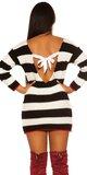 KouCla pletené šaty/dlhý sveter so sexy zadnou stranou Čierna