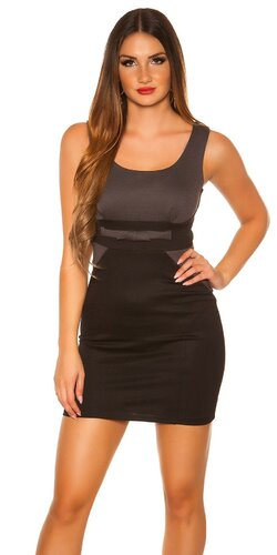 Dámske mini šaty ,,biznis look,, Antracitová