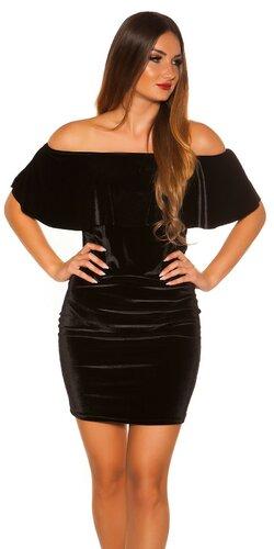 Velvet mini šaty | Čierna