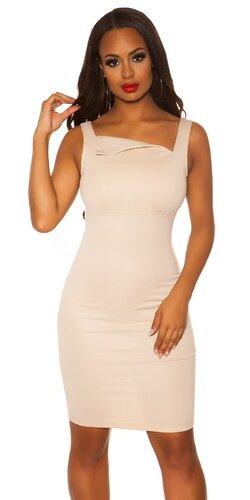 Dámske púzdrové šaty KouCla | Béžová