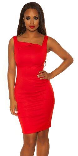 Dámske púzdrové šaty KouCla | Červená