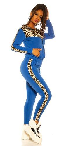Modrá leopardia športová súprava | Modrá