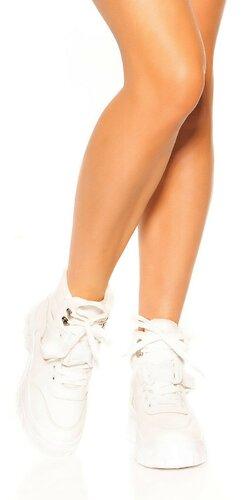 Vysoké tenisky | Biela