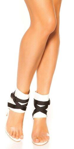 Stiletto členkové sandále | Biela
