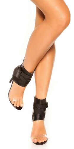 Stiletto členkové sandále | Čierna