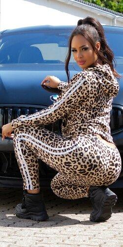 Leopardí športový set | Biela