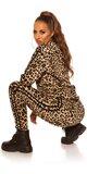 Leopardí športový set Čierna