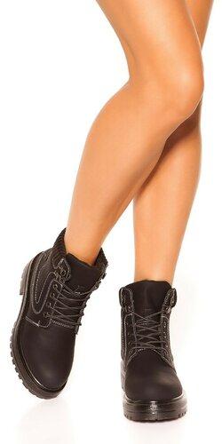 Členkové topánky | Čierna