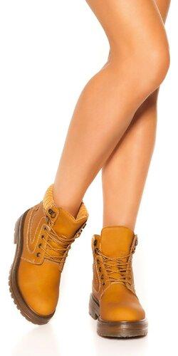 Členkové topánky | Karamelová