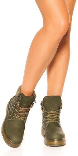 Členkové topánky | Zelená