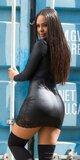 Čierne mini šaty KouCla s čipkou Čierna