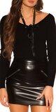 KouCla sveter so stuhou Čierna