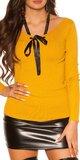 KouCla sveter so stuhou Horčicová
