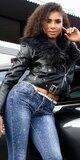 Zateplená motorkárska bunda Čierna