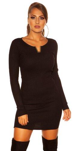 Dámske úpletové šaty KouCla   Čierna