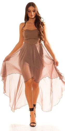 Dámske značkové mini šaty s vlečkou   Cappuccino