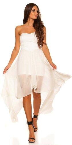 Dámske značkové mini šaty s vlečkou   Biela